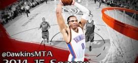 Dunkilation: tous les dunks de Russell Westbrook cette saison