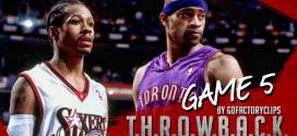 Il y a 14 ans Allen Iverson écœurait les Raptors de Vince Carter