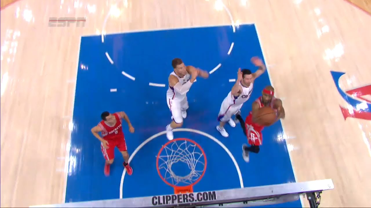 Le chase-down block de Blake Griffin sur Corey Brewer