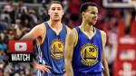 Les highlights de Stephen Curry (23 pts à 6/13 à 3-pts) et Klay Thompson (24 pts à 6/13 à 3-pts)