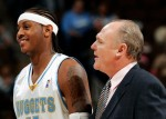 Carmelo Anthony et George Karl