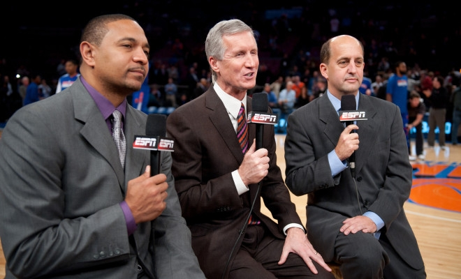 Jeff Van Gundy mike breen et mark jackson