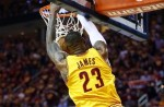 Lebron james alley oop dunk