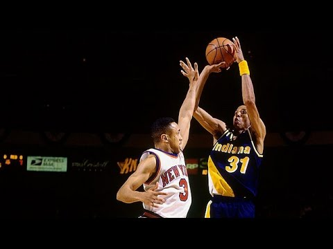 Il y a 21 ans Reggie Miller prenait feu dans le dernier quart pour crucifier Knicks