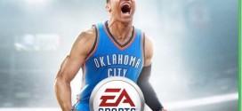 Russell Westbrook en couverture de NBA Live 16