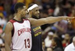 LeBron James et tristan Thompson