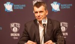 Brooklyn, NY - April 8th: Brooklyn Nets vs Atlanta Bucks. Mikhail Prokhorov majority owner of the Brooklyn Nets holds a press conference before tonights game. April 8th, 2015. (Photo by Anthony J. Causi)