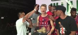 UneSuper.Fly 4 23 carats pour Rafal 'Lipek' Lipinski pour sa victoire au Fly dunk contest