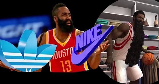 Harden Nike Adidas