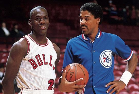 Michael Jordan et Julius Erving
