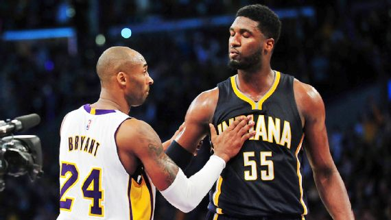 Roy Hibbert et Kobe Bryant