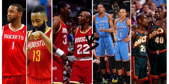 Playoffs des légendes, 1st round – choisissez entre Rockets et Thunder