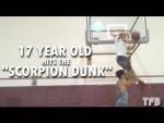 Dunkeur du jour:Isaiah Rivera (17 ans, 1m85) passe le dunk du Scorpion