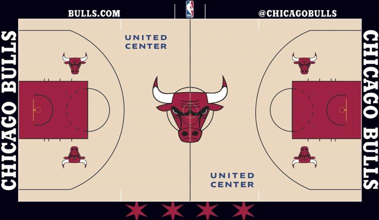 NBA Chicago Bulls Court Plastic License Plate Frame
