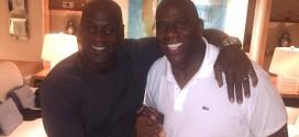 Photo du jour: Magic Johnsonet Michael Jordan traînent ensemble