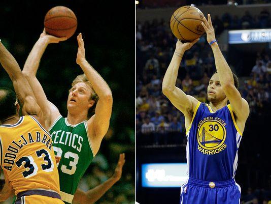 Stephen Curry et Larry Bird