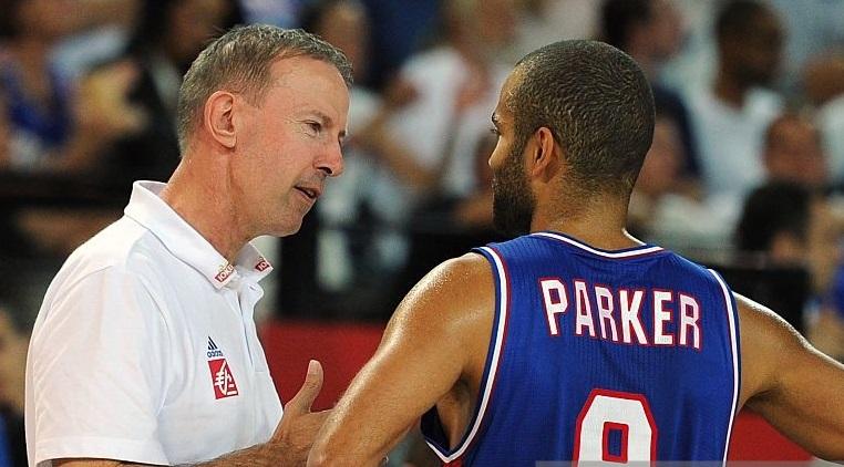 Tony Parker et Vincent Collet