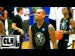 Chris Brown montre une nouvelle fois ses talents de basketteur lord d'un celebrity game