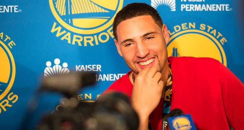 klay thompson smile