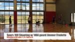 Vidéo : Jimmer Fredette assure au « Spurs 100 », l'exercice de shoot conçu par les Spurs