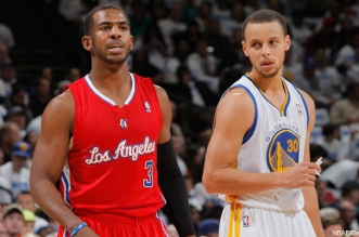 Chris Paul et Stephen Curry
