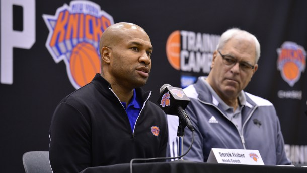 Derek Fisher et Phil Jackson Knicks
