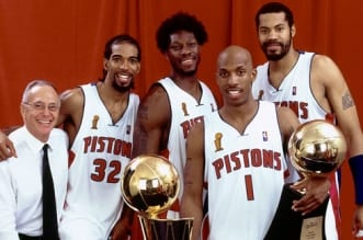 Detroit Pistons, Chauncey Billups, Ben Wallace, Rasheed Wallace et Rip Hamilton