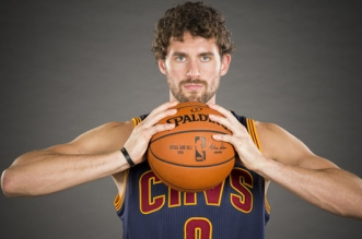CLEVELAND, OH - SEPTEMBER 28: Kevin Love #0 of the Cleveland Cavaliers during the Cleveland Cavaliers media day at Cleveland Clinic Courts on September 28, 2015 in Independence, Ohio. (Photo by Jason Miller/Getty Images)
