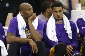 Kobe Bryant et Jordan Clarkson Lakers