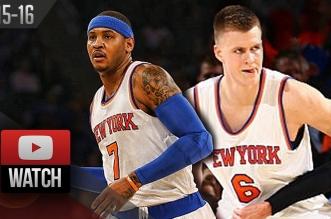 Highlights: Carmelo Anthony etKristaps Porzingis vs Jeff Teague et Al Horford