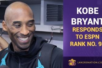 Kobe Bryant réagit à sa 93ème place au classement ESPN