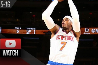 Les highlights de Carmelo Anthony: 17 points en 20 minutes