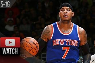 Les highlights de Carmelo Anthony : 21 pts en 25 mins