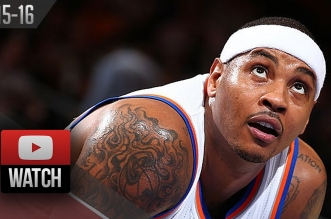Les highlights de Carmelo Anthony (18 pts) et Derrick Williams (21 pts)