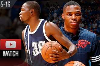 Les highlights de John Jenkins (26 pts), Russell Westbrook (19 pts) et Kevin Durant (10 pts)