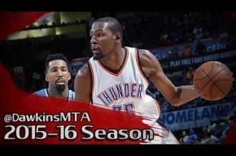 Les highlights de Kevin Durant (23 pts) et du duel Russell Westbrook (17 pts, 12 asts) – Emmanuel Mudiay (22 pts)