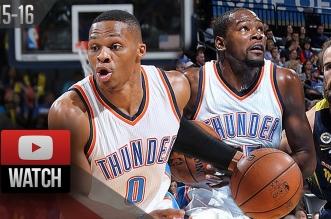 Les highlights de Kevin Durant et Russell Westbrook : 29 pts cumulés