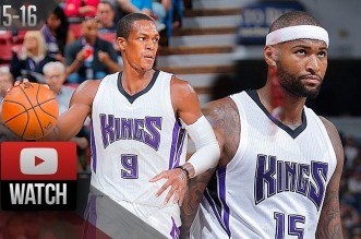 Les highlights du quatuor Rudy Gay (26 pts), DeMarcus Cousins (17 pts), Rajon Rondo (10 asts) et Marco Belinelli (19 pts)