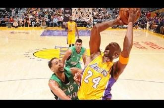 Les highlights du trio Kobe Bryant (21 pts en 18 mins), Nick Young (16 pts) et Julius Randle (14 pts)