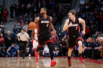 miami heat Dwyane Wade et Goran Dragic