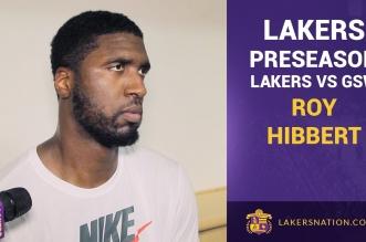 Roy Hibbert mécontent de la défense des Lakers contre Golden State