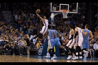Russell Westbrook décolle pour le tomar