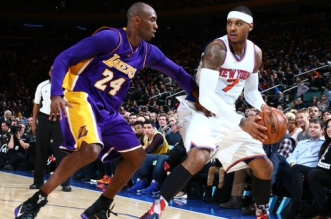 Carmelo Anthony et Kobe Bryant