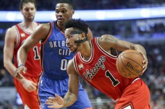 Derrick Rose Bulls Thunder