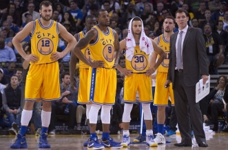 Golden State Warriors, stephen curry, andrew bogut andre iguodala, luke walton, draymond green, klay thompson
