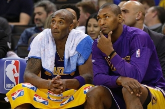 Kobe Bryant et metta World Peace