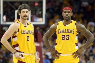 LeBron James et Kevin Love Cleveland  Cavaliers