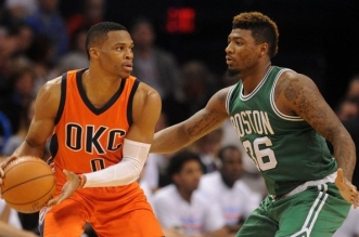 Russell Westbrook et Marcus Smart