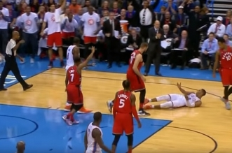 Russell Westbrook flop