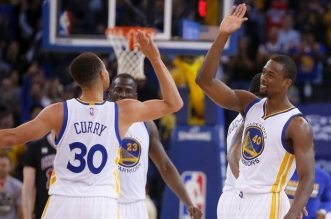 Stephen Curry et Harrison Barnes